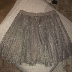 LC Lauren Conrad silver tulle skirt Medium